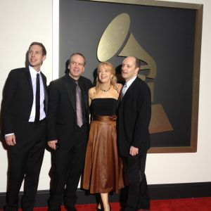 With engineers Brian Losch, Tim Martyn and composer Maria Schneider at the 56th Grammy Awards. Tags: Winter Morning Walks, Maria Schneider, GRAMMY