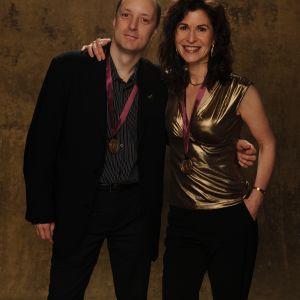 With Sharon Isbin at the Grammy Awards. Tags: Sharon Isbin